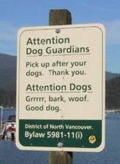 Canadian Dog Sign