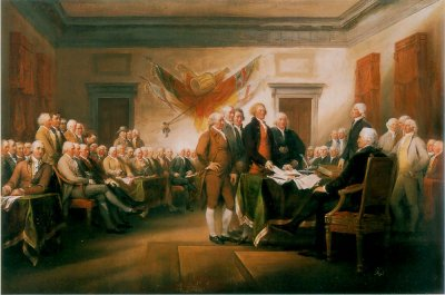 John Trumbull's Signing the Declaration of Independence