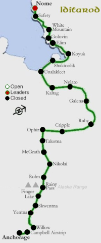 Iditarod map even years
